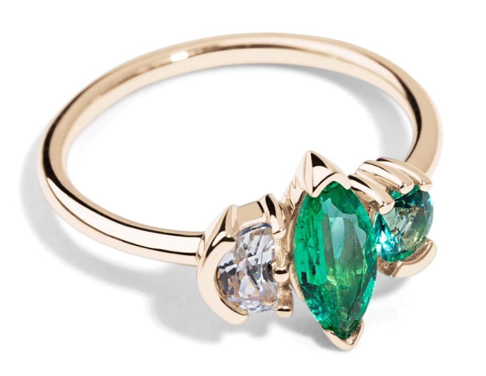 Custom Lash Triad with Emeralds