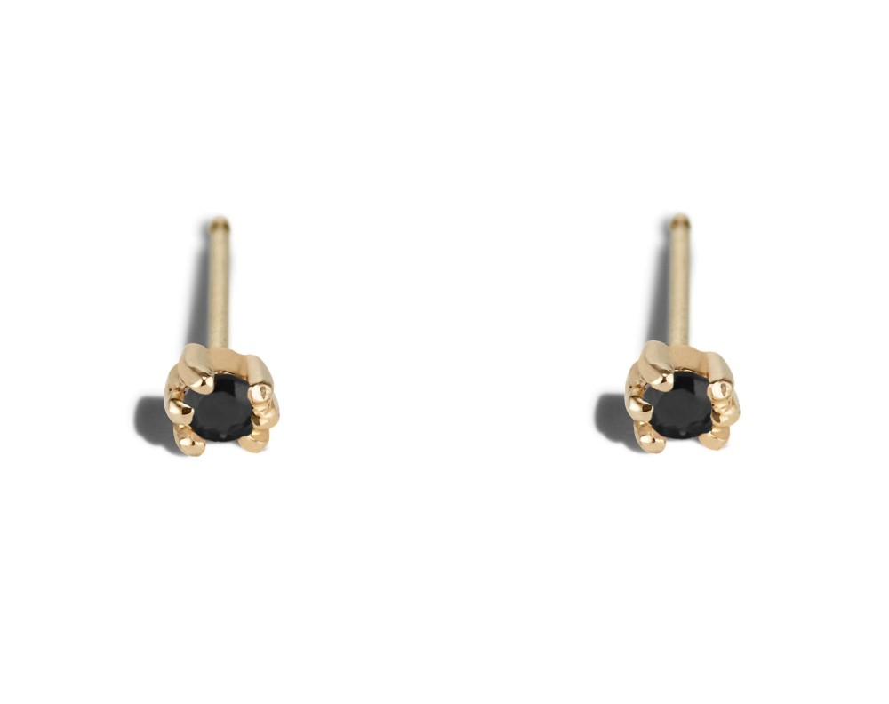 Lash Mini Black Diamond Studs