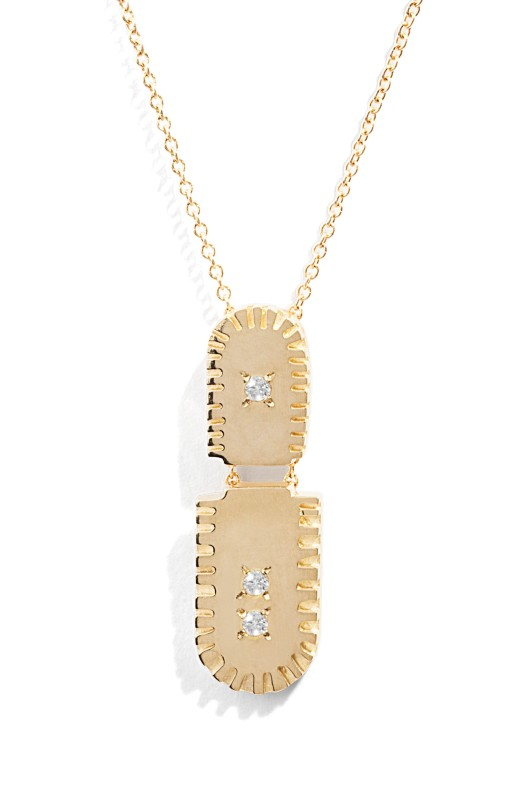 Ray Fringe Diamond Pendant