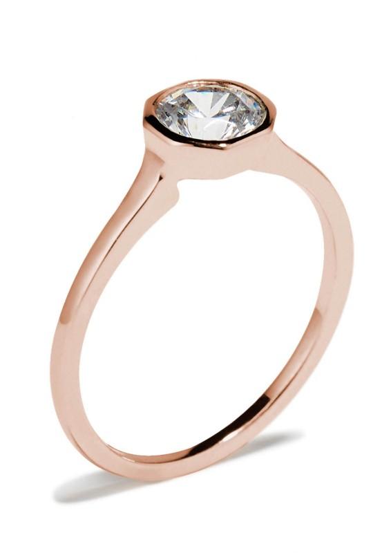 Allium Octad Diamond Ring with Notch