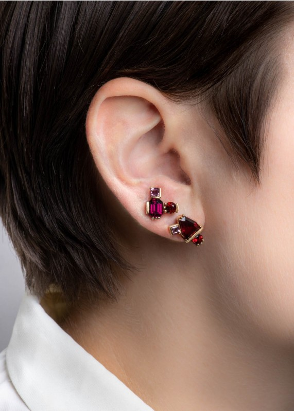 Lash Garnet and Tourmaline Power Studs *Sold Out*