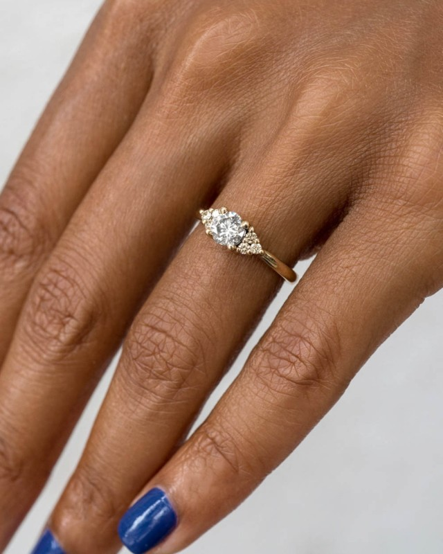 Avens Symmetrical Diamond with Champagne Ombré Ring
