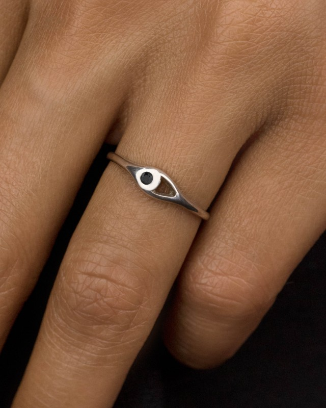 Aira Mini Black Diamond Ring