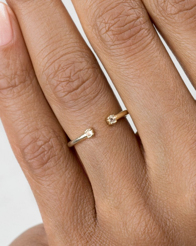 Open Lash Mini Champagne Diamond Ring