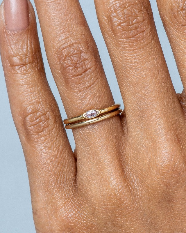 Nikko Mini Morganite Marquise Ring