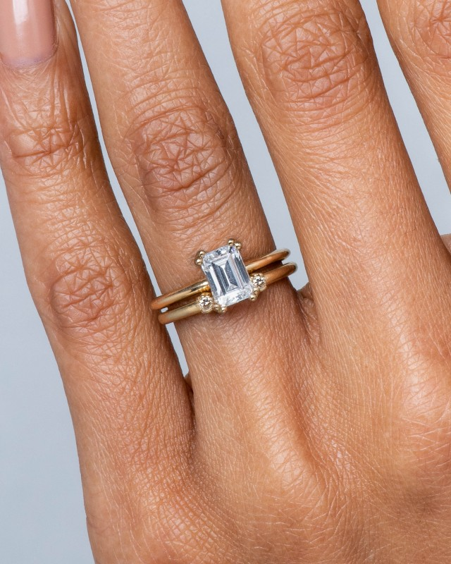 Ray Diamond Emerald Cut Ring