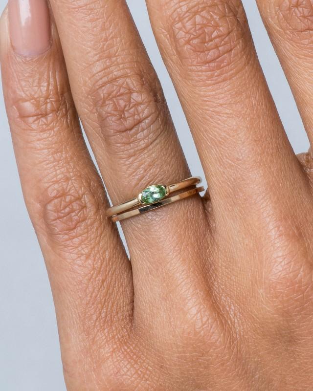 Nikko Mini Paraiba Oval Ring