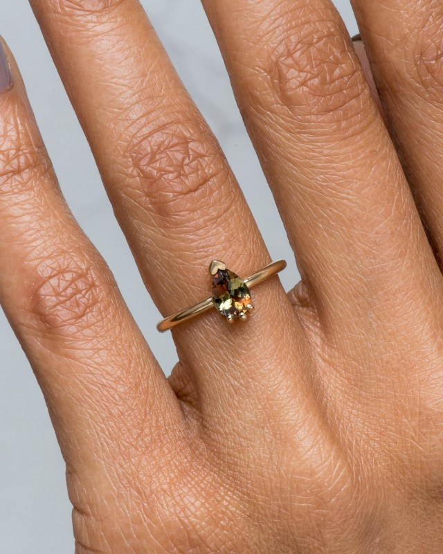 Lash Andalusite Pear Ring