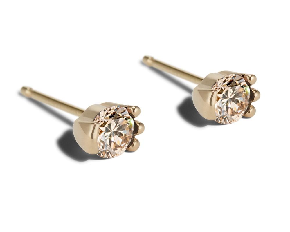 Lash Champagne Diamond Studs