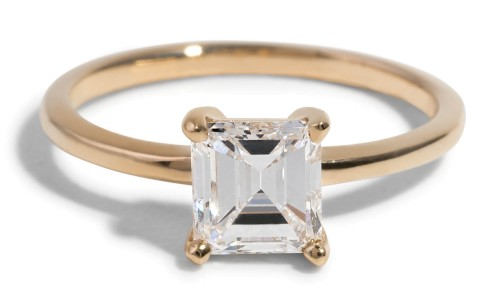 Custom Heirloom Asscher Cut Solitaire Engagement Ring