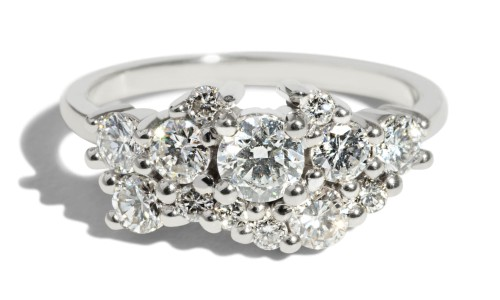 Custom Heirloom Diamond Cluster Ring