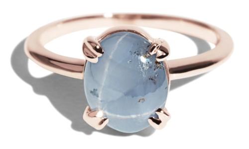Custom Star Sapphire Ray Ring