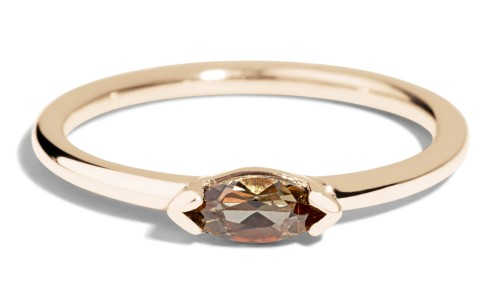 Nikko Mini Andalusite Marquise Ring in 14kt Yellow Gold
