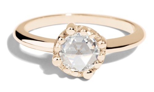 Sol Rose Cut Diamond Ring in 14kt Yellow Gold