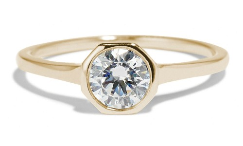 Allium Octad .75ct Diamond Ring with Notch in 14kt Yellow Gold