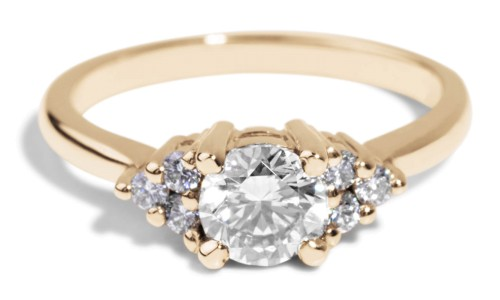 Avens Symmetrical Diamond Ring in 14kt Yellow Gold
