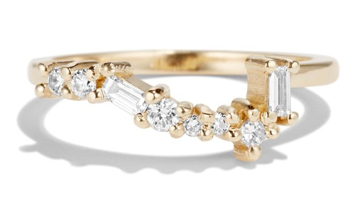 Burst Cluster Diamond Band in 14kt Yellow Gold