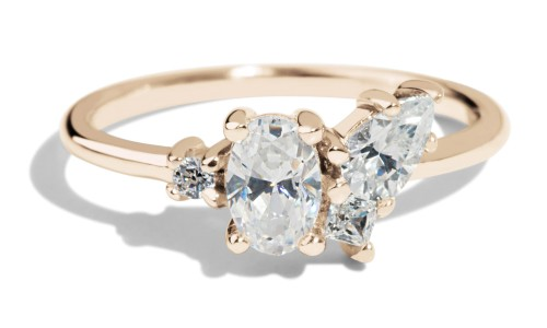 Eaves Cluster Diamond Ring in 14kt Yellow Gold