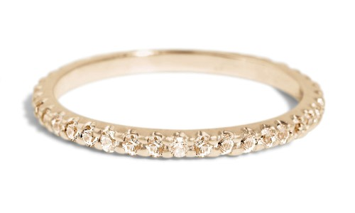 Eternity Champagne Diamond Band in 14kt Yellow Gold
