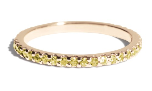 Eternity Yellow Sapphire Band in 14kt Yellow Gold