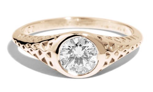 Filigree .50ct Diamond Ring in 14kt Yellow Gold
