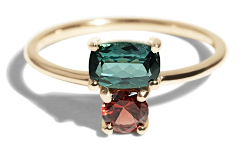 Custom Orla Cluster Tourmaline Ring