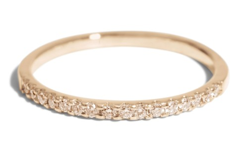 Eternity Half Champagne Diamond Band in 14kt Yellow Gold