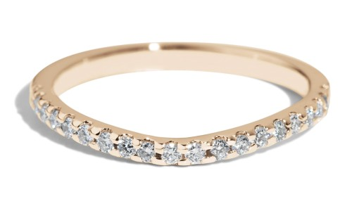 Eternity Half Curved Diamond Band in 14kt Yellow Gold