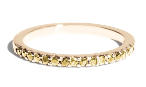 Eternity Half Yellow Sapphire Band in 14kt Yellow Gold