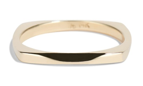Icon Narrow Band in 14kt Yellow Gold