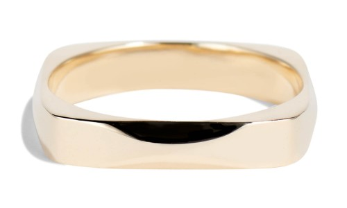 Icon One Wide Band in 14kt Yellow Gold
