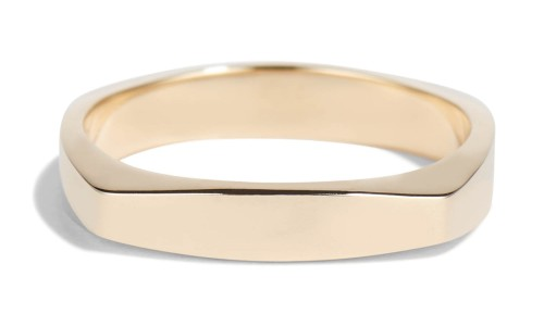 Icon Two Wide Band in 14kt Yellow Gold