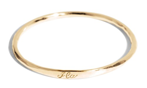 Keepsake Baby Bangle in 14kt Yellow Gold