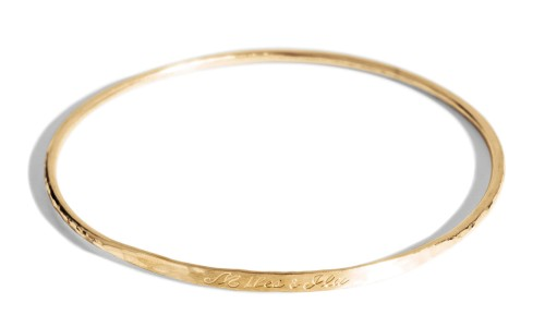Keepsake Guardian Bangle in 14kt Yellow Gold