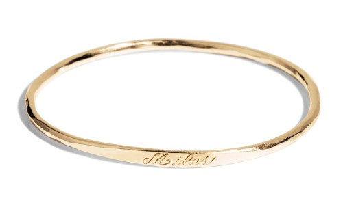 Keepsake Child Bangle in 14kt Yellow Gold