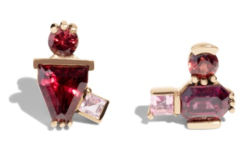 Lash Garnet and Tourmaline Power Studs