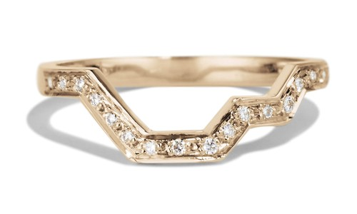Linea Diamond Band in 14kt Yellow Gold