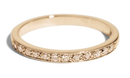 Luma Champagne Diamond Band in 14kt Yellow Gold