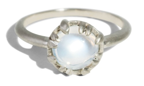 Custom Moonstone Cabochon Sol Ring