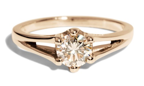 Myrtle .50ct Champagne Diamond Ring in 14kt Yellow Gold