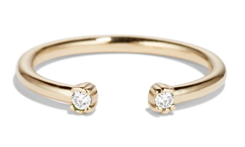 Open Lash Mini Diamond Ring in 14kt Yellow Gold