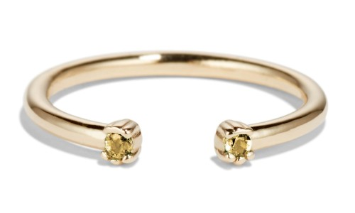 Open Lash Mini Yellow Sapphire Ring in 14kt Yellow Gold