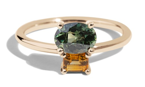 Orla Cluster Sapphire Ring in 14kt Yellow Gold