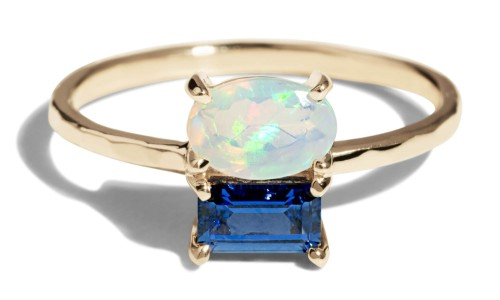 Custom Orla Cluster 6x4mm Opal Ring