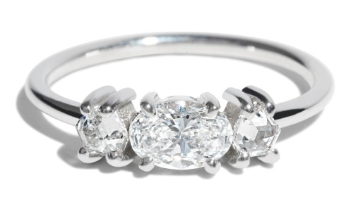 Custom Icon 5mm Oval Cut Diamond Ring