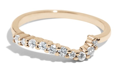 Radial Cluster Diamond Band in 14kt Yellow Gold