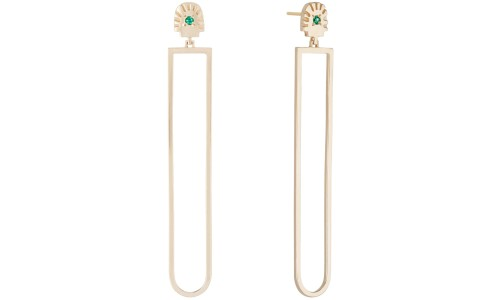 Ray Fringe Emerald Drops in 14kt Yellow Gold