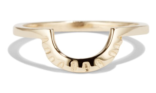 Ray Fringe Band in 14kt Yellow Gold