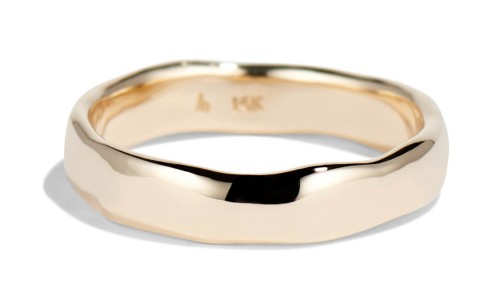 Reticulated Two Wide Band in 14kt Yellow Gold